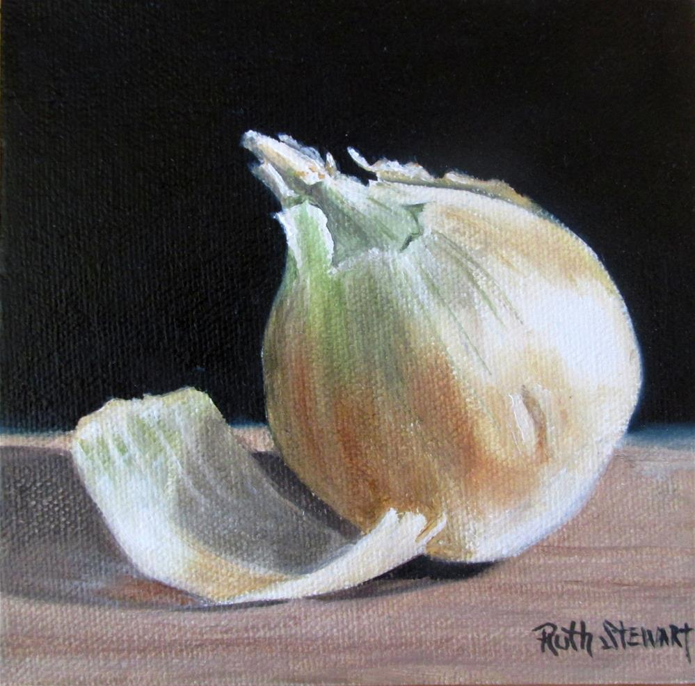 """Onion"" original fine art by Ruth Stewart"