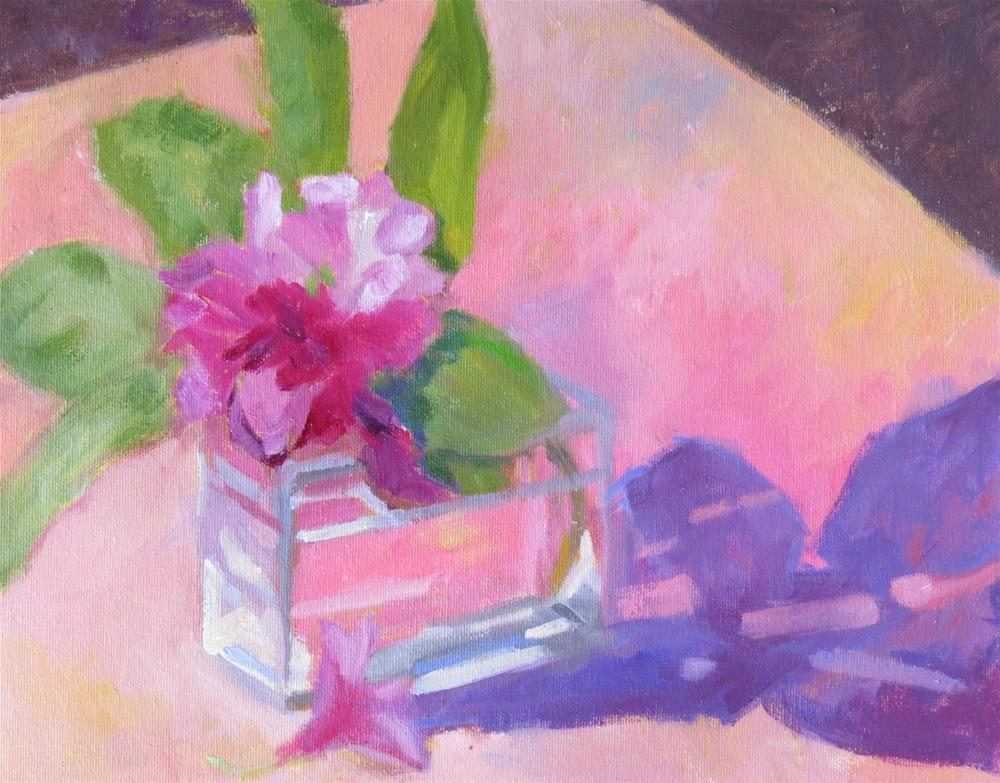 """Rhododendrons"" original fine art by Pam Holnback"