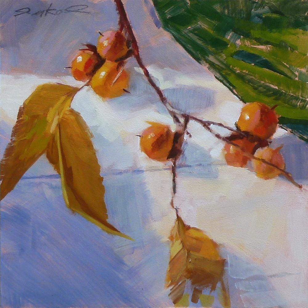"""Wild Persimmons #5-2012"" original fine art by Ron Ferkol"
