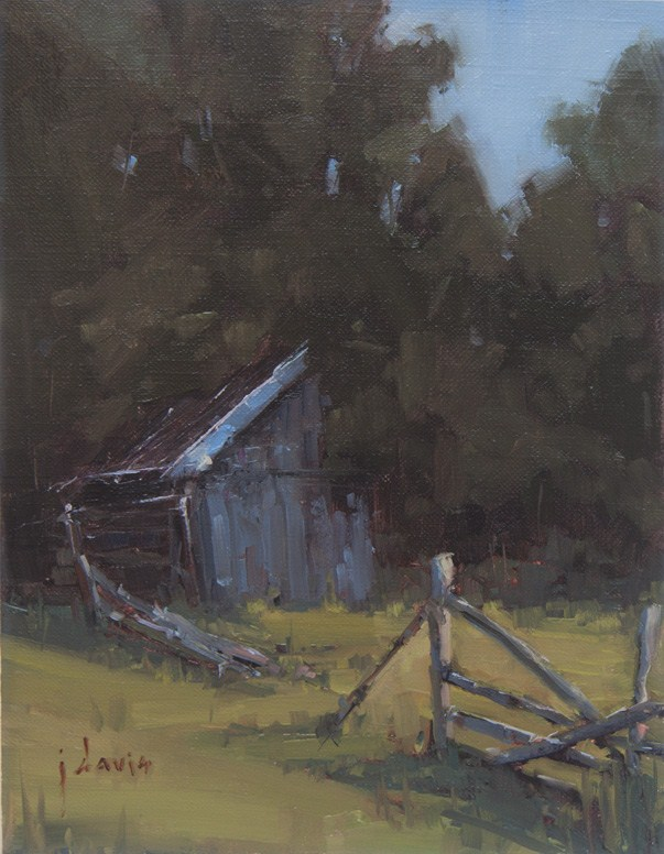 """Old Smokehouse"" original fine art by Julie Davis"
