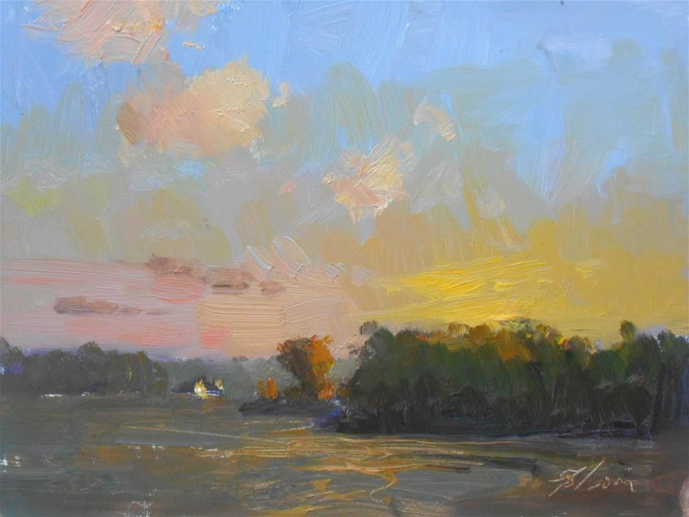 """Sunset Serenity"" original fine art by Kelli Folsom"