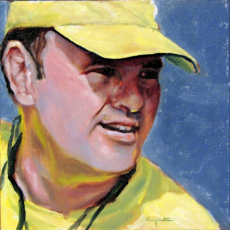 """""""En amarillo"""" original fine art by Eduardo Carpintero"""