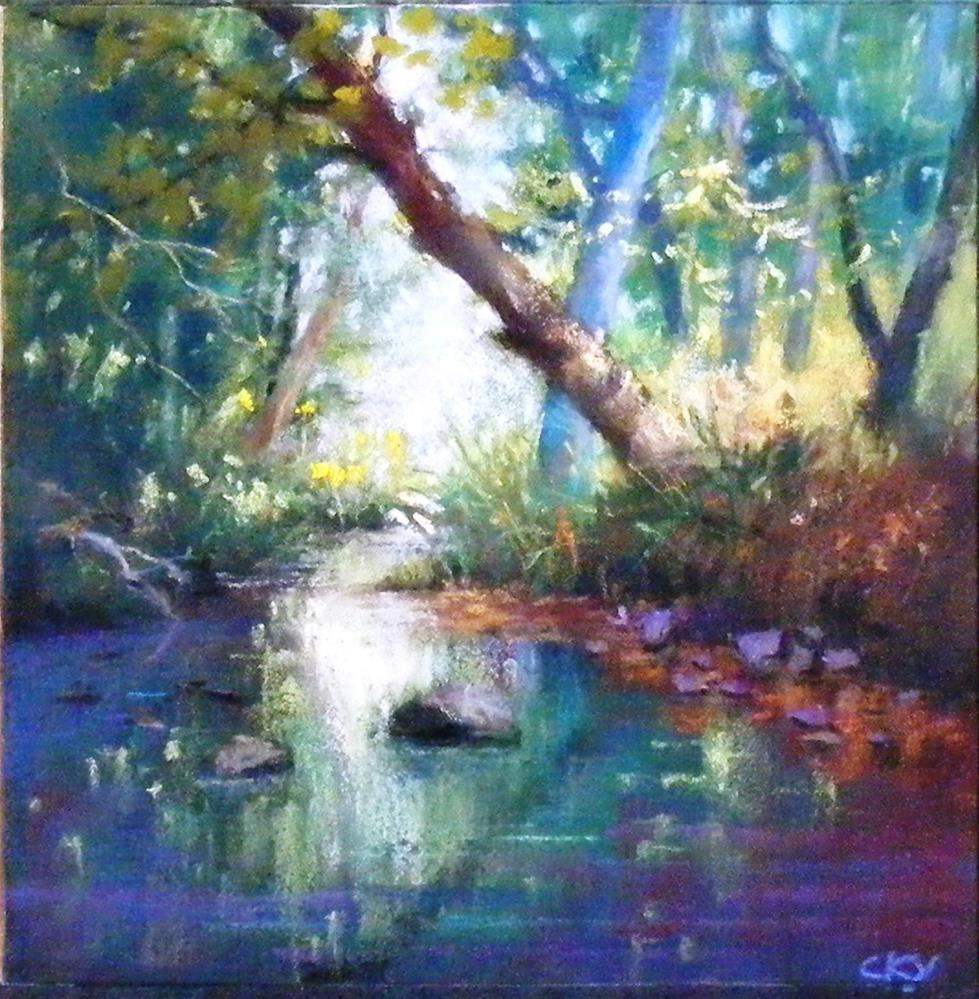 """April Light"" original fine art by Celine K.  Yong"