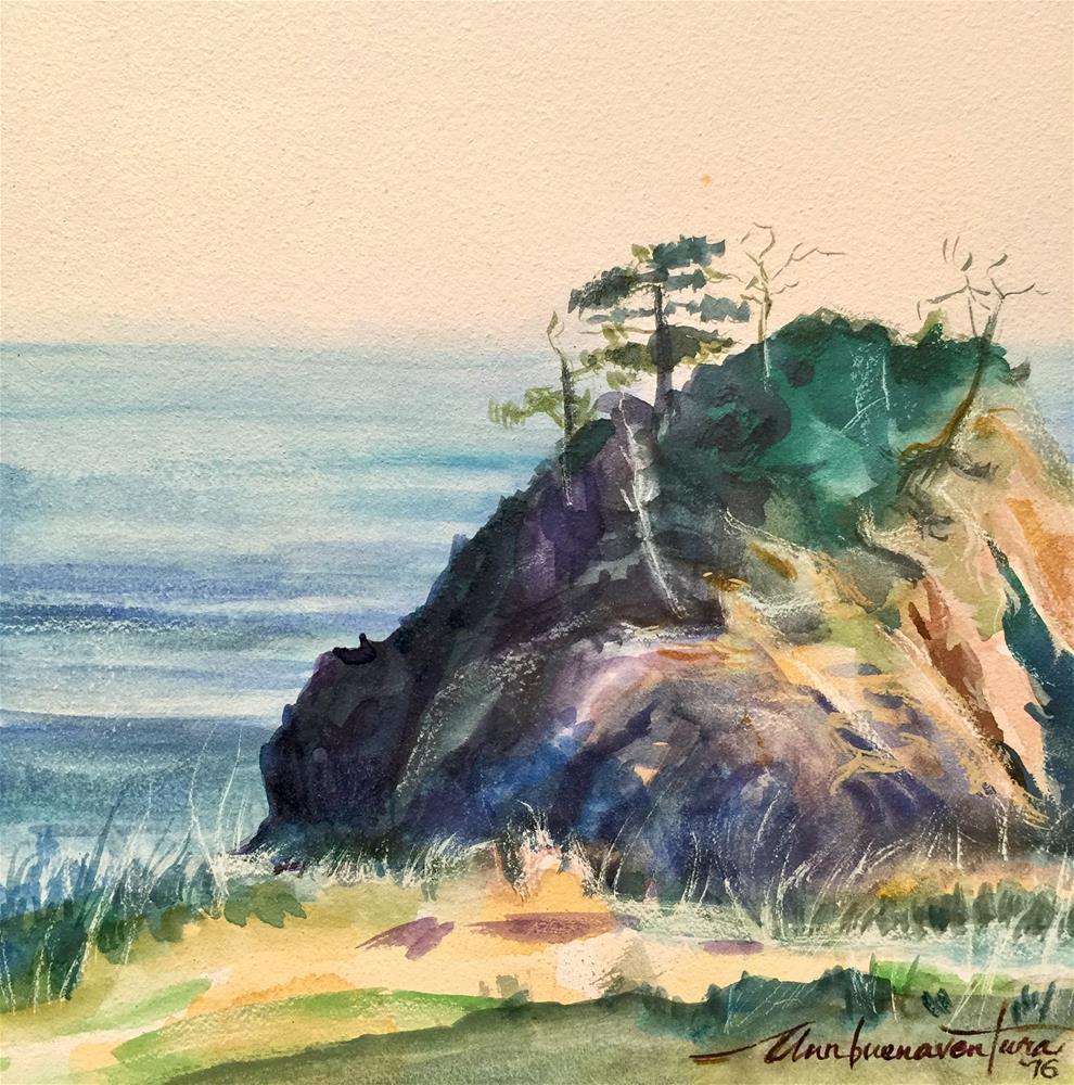 """""""Cliffside"""" original fine art by Ann Buenaventura"""