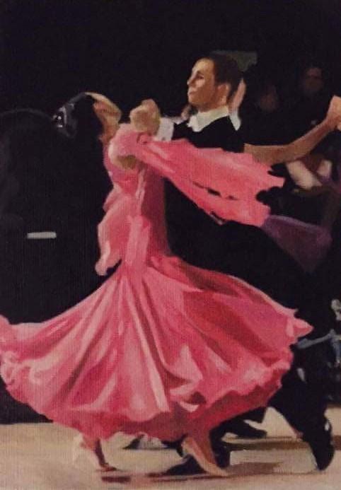 """The Ballroom Dancers"" original fine art by John Cameron"
