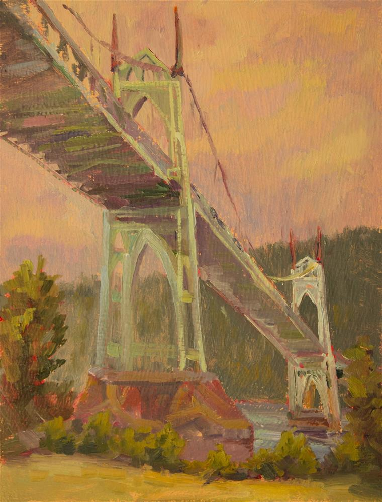 """ST. JOHNS BRIDGE"" original fine art by Karen E Lewis"