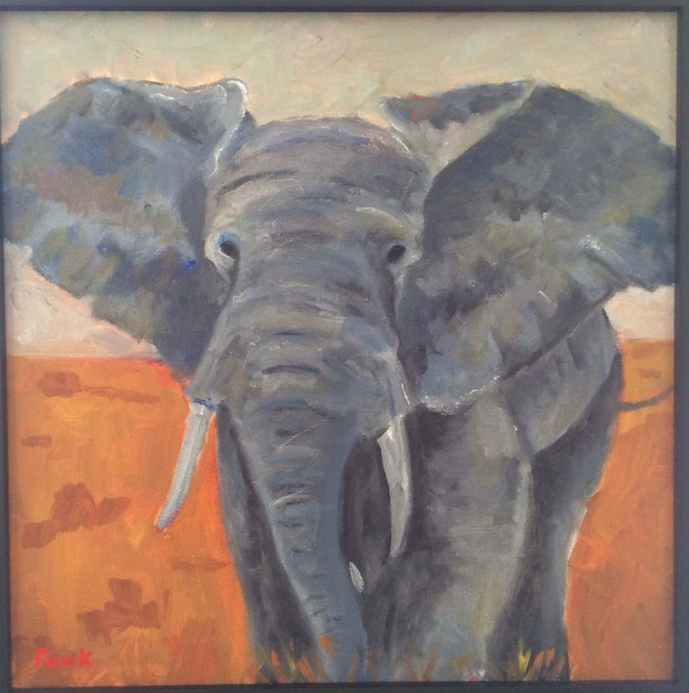 """Molly's Elephant "" original fine art by Lorraine Funk"