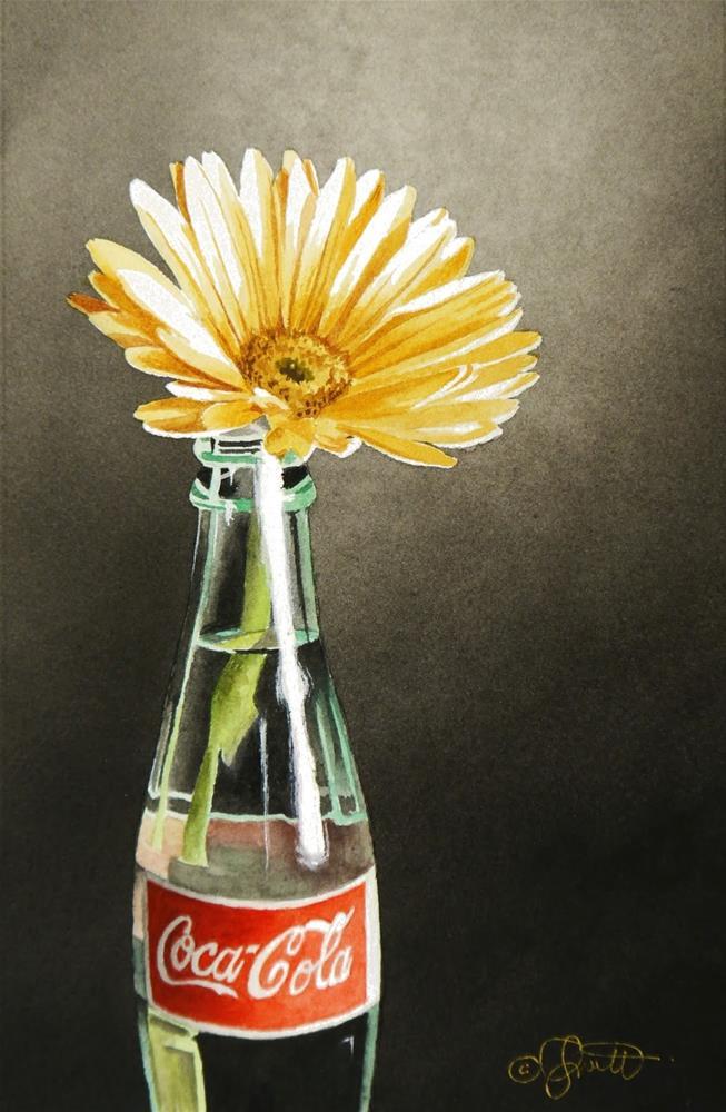 """""""Peace, Love & Coca-Cola"""" original fine art by Jacqueline Gnott, whs"""