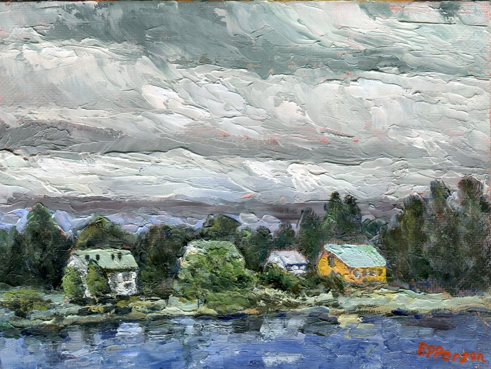 """Along The Parnu River, Estonia"" original fine art by Stanley Epperson"