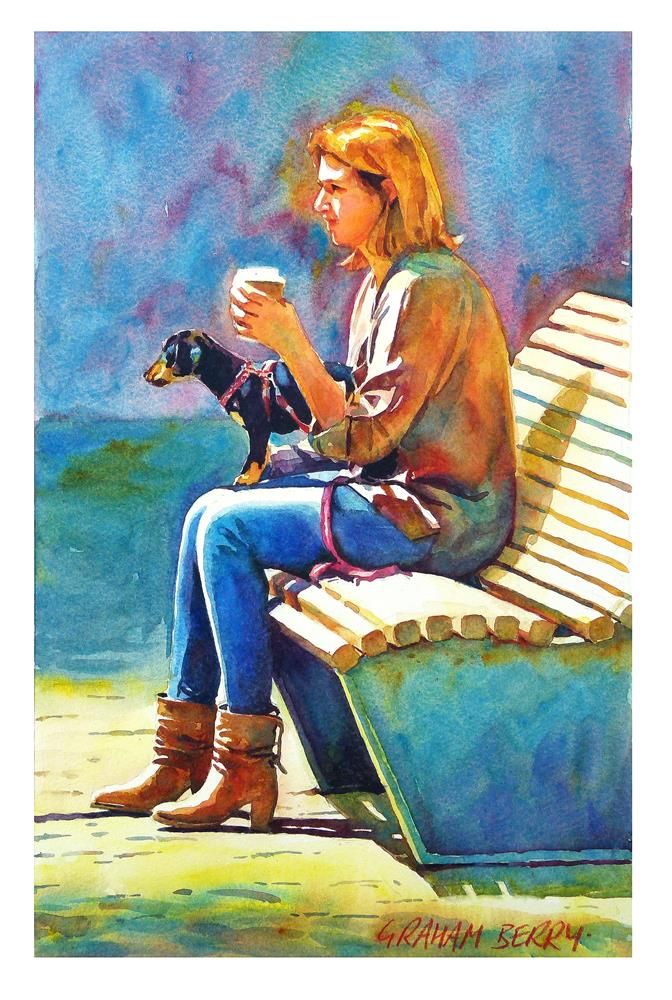 """Coffee to go."" original fine art by Graham Berry"