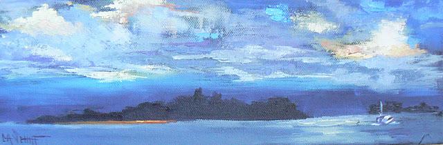 """HEADING HOME, OIL"" original fine art by Carol Schiff"