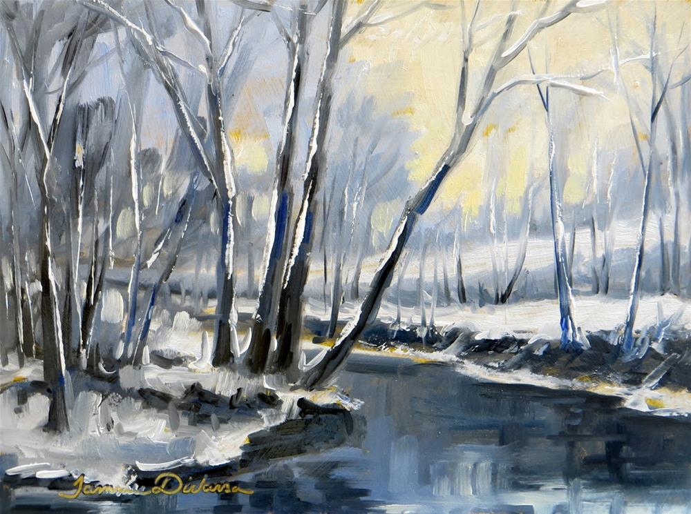 """Late December Snow"" original fine art by Tammie Dickerson"