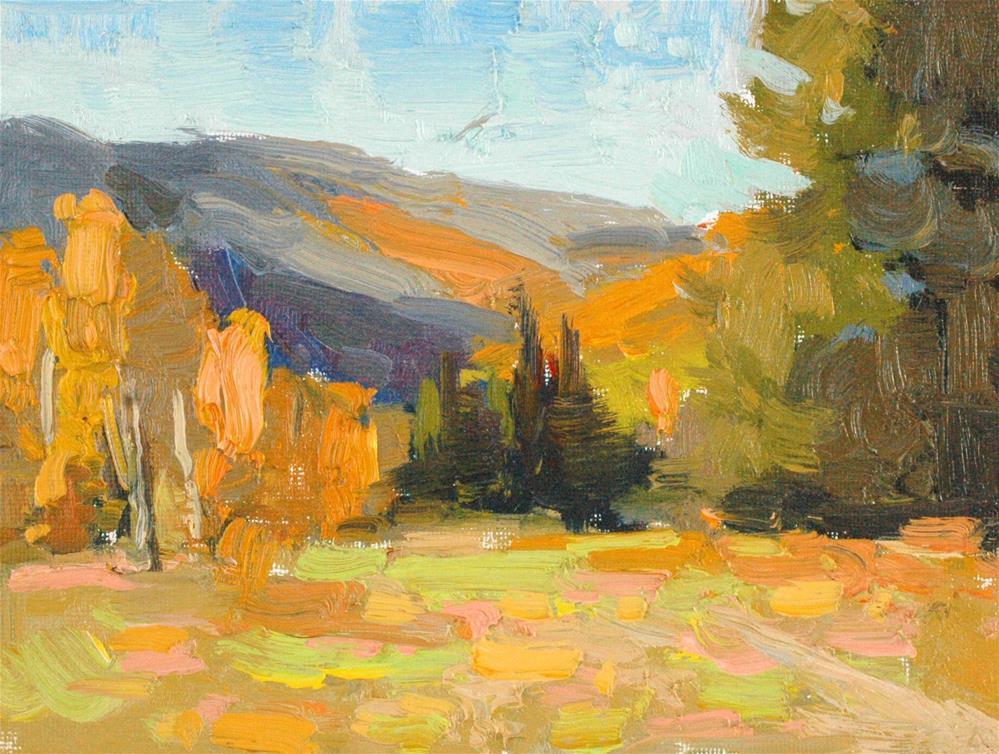 """Fall Above Vail"" original fine art by Michael Clark"