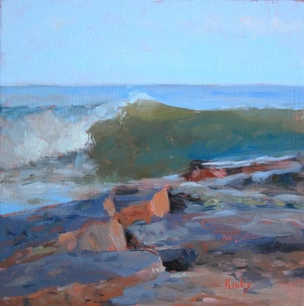 """Surf at 47th"" original fine art by Randall Cogburn"