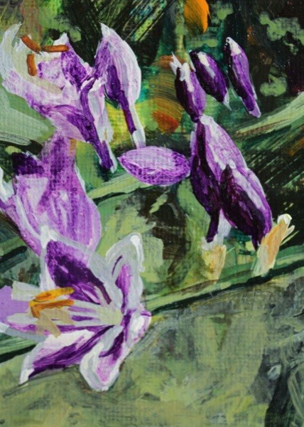 """Hostas"" original fine art by Chris  Breier"