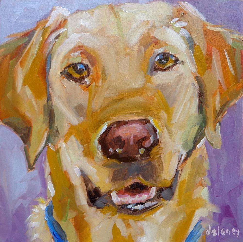 """""""HAPPY FACE"""" original fine art by Jean Delaney"""