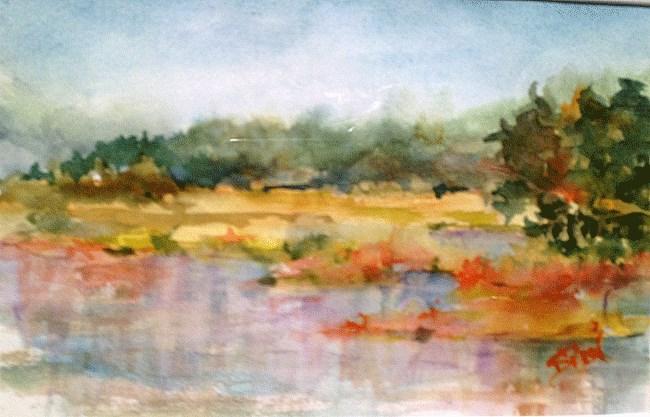 """""""Rice City Watercolor"""" original fine art by Sue Dion"""