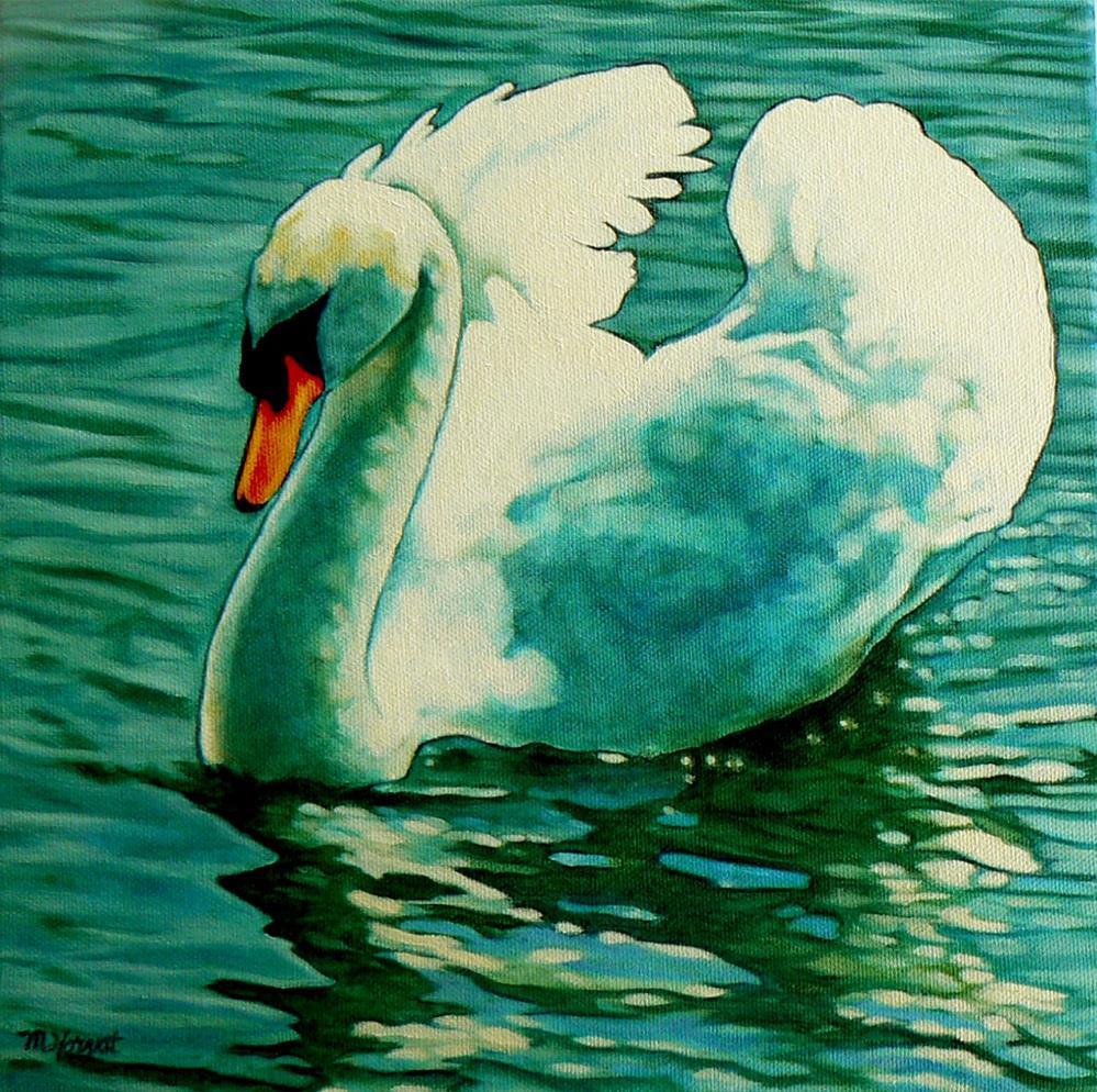 """""""Stratford Swan II  Alpha"""" original fine art by Margaret Horvat"""