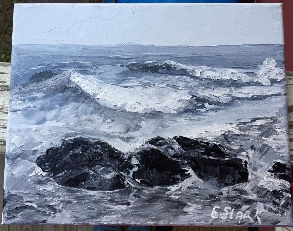 """Tidal"" original fine art by Elizabeth Ann Stark"