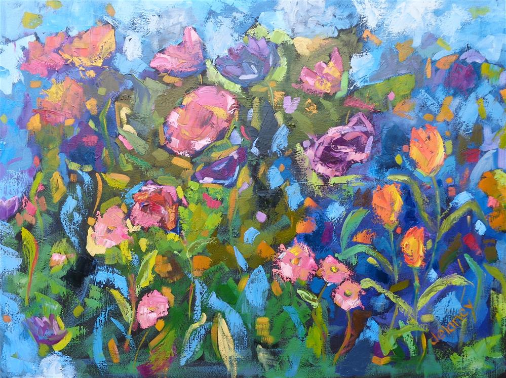 """COLOUR EXPLOSION"" original fine art by Jean Delaney"