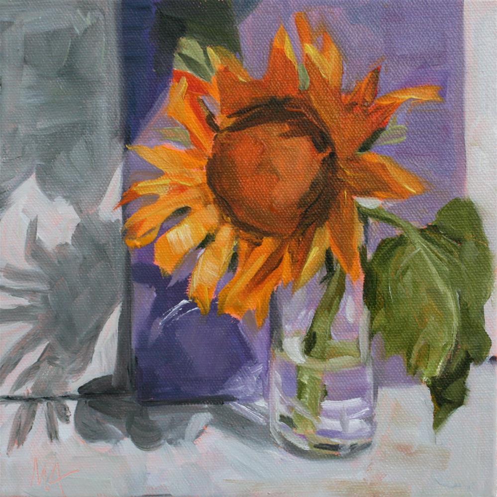 """""""Sunflower"""" original fine art by Aniko Makay"""