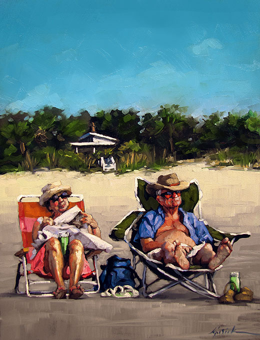 """The Honeymooners"" original fine art by Karin Jurick"