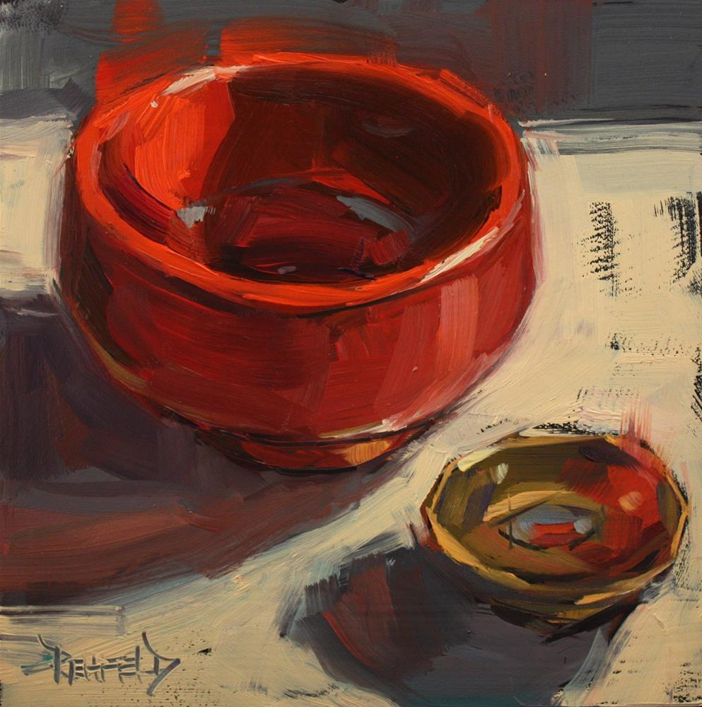 """Auspicious Bowls"" original fine art by Cathleen Rehfeld"