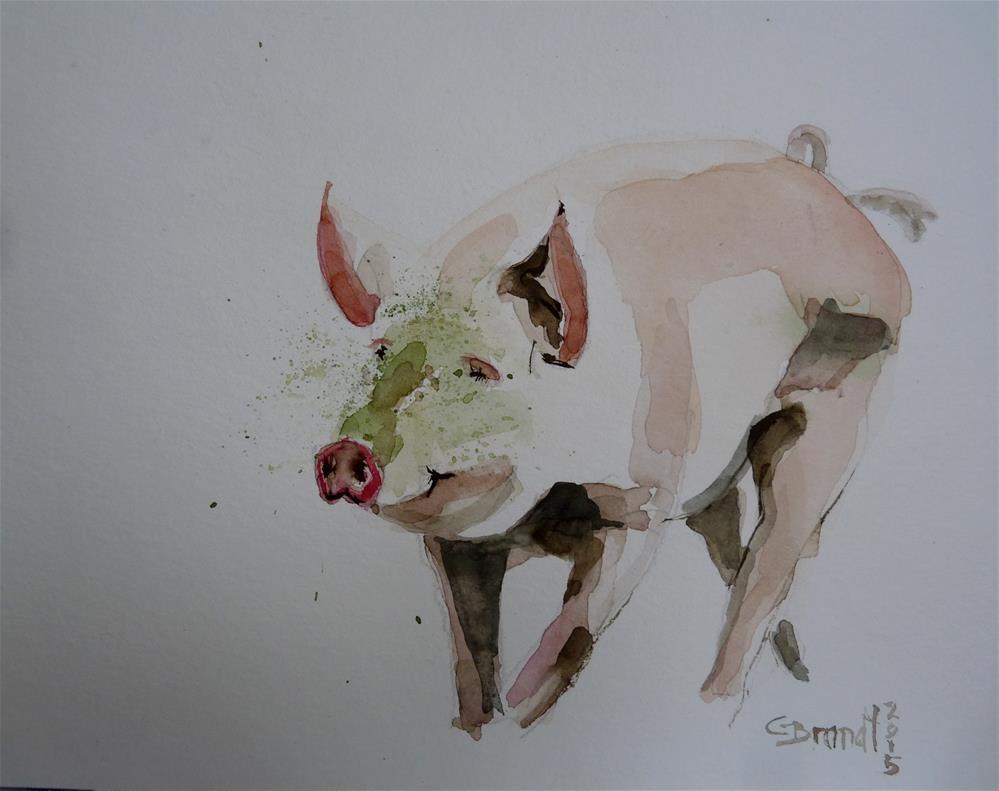 """pig2"" original fine art by Claudia Brandt"