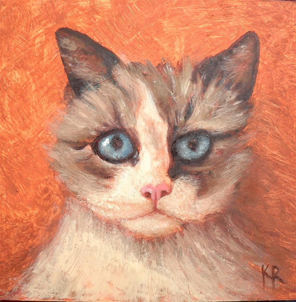 """Kitty Cat"" original fine art by Karen Roncari"