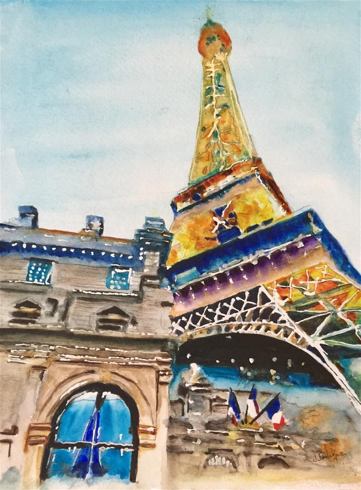 """Paris, Las Vegas"" original fine art by Juan Velasquez"