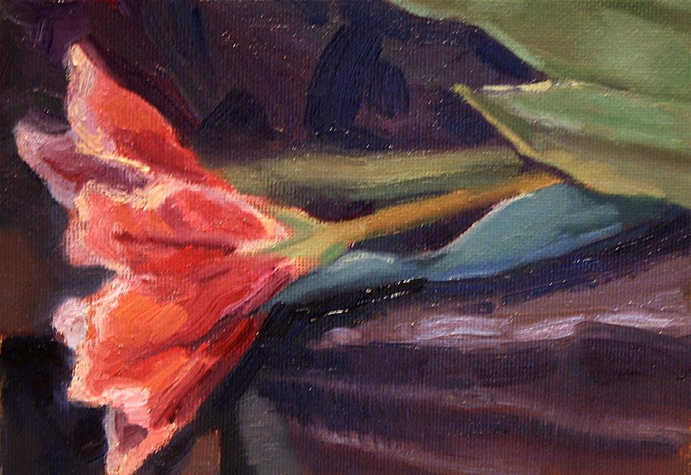 """flower on table"" original fine art by K.R. McCain"
