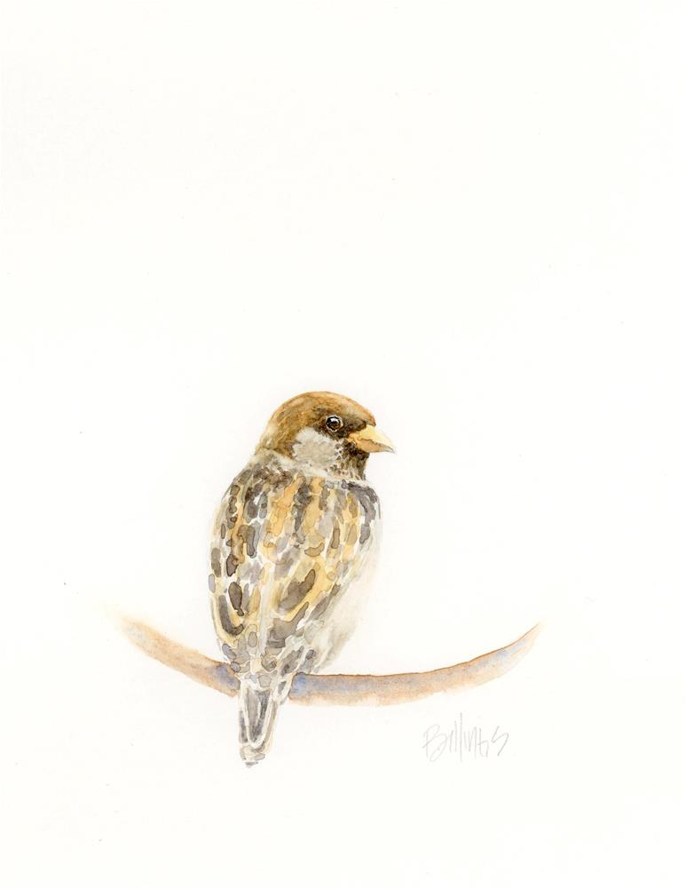 """Sparrow III"" original fine art by Susanne Billings"