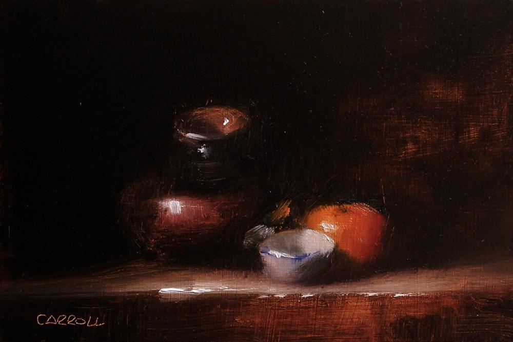 """White Finger Bowl"" original fine art by Neil Carroll"
