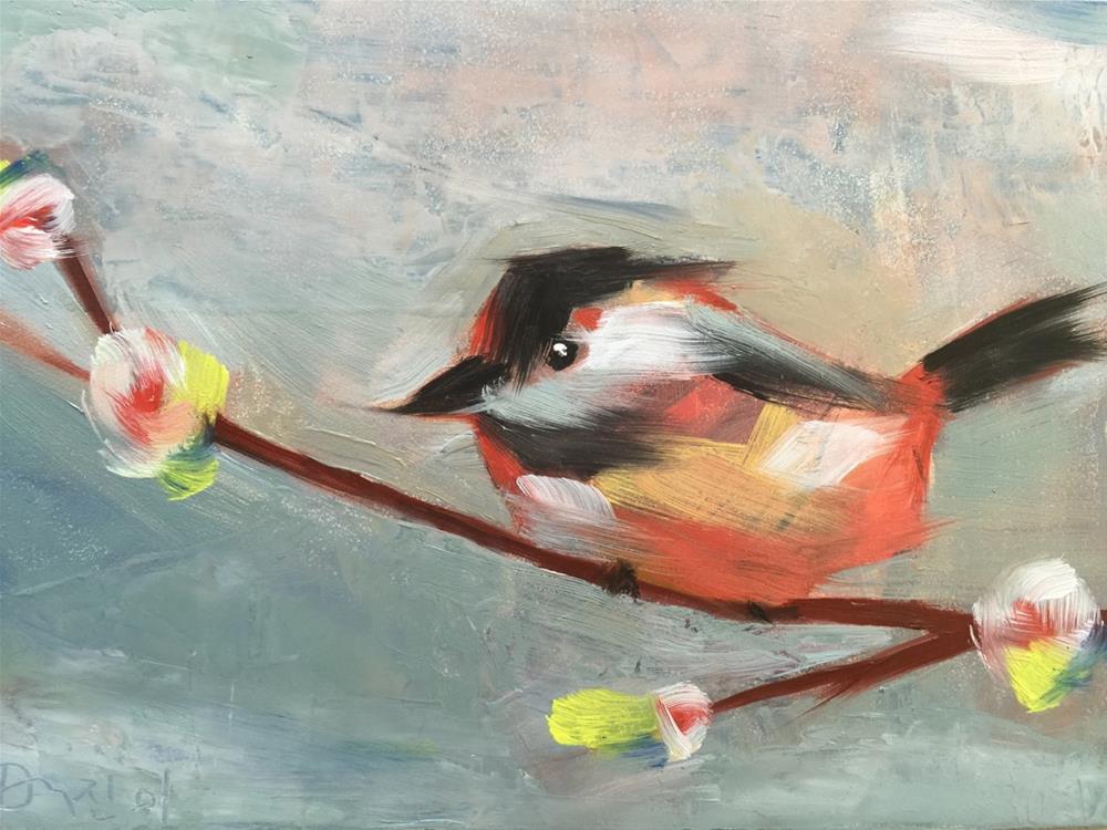 """0027ChubbyBird"" original fine art by Jenny Doh"