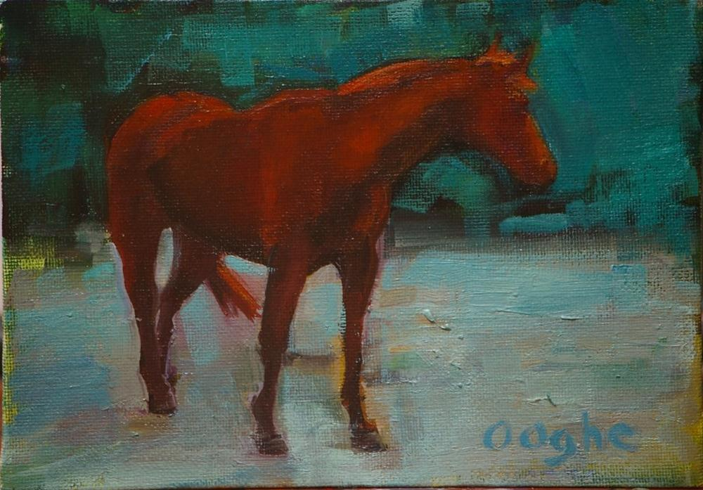 """Chestnut Horse"" original fine art by Angela Ooghe"