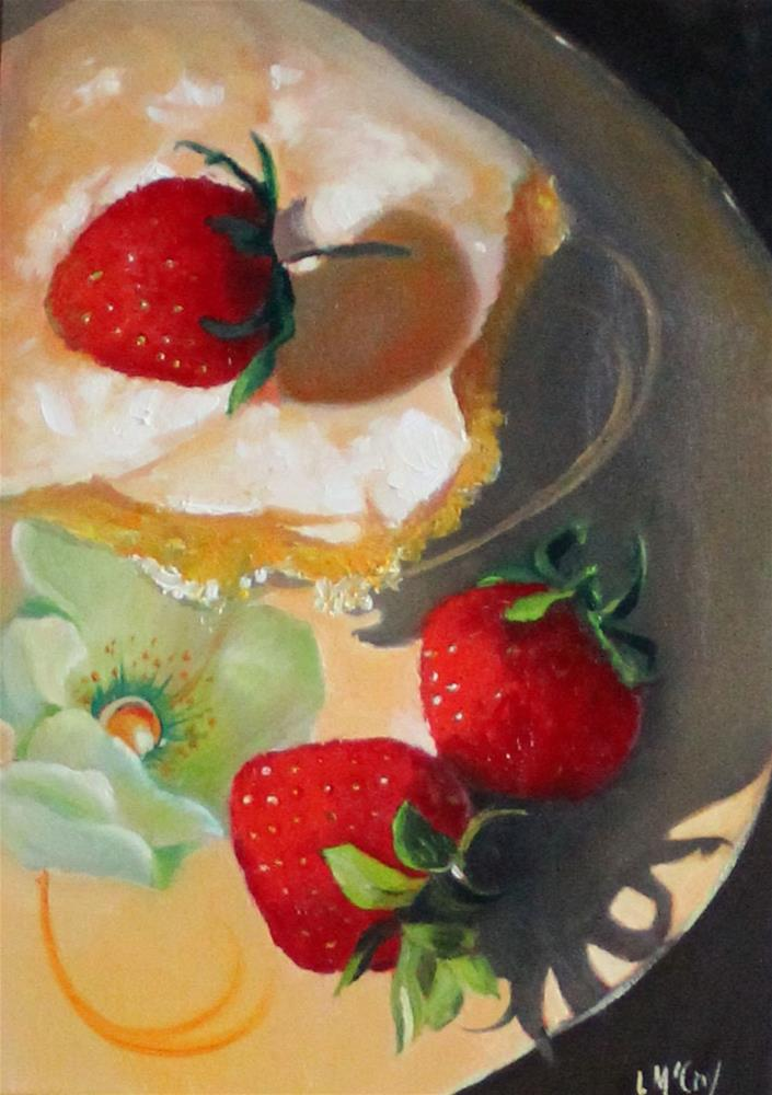 """Schnecken and Strawberries"" original fine art by Linda McCoy"