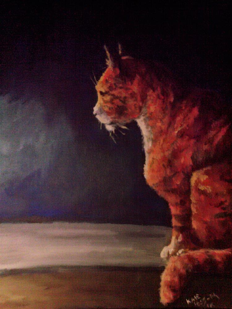 """Interested Observer"" original fine art by Kate Less-Madsen"