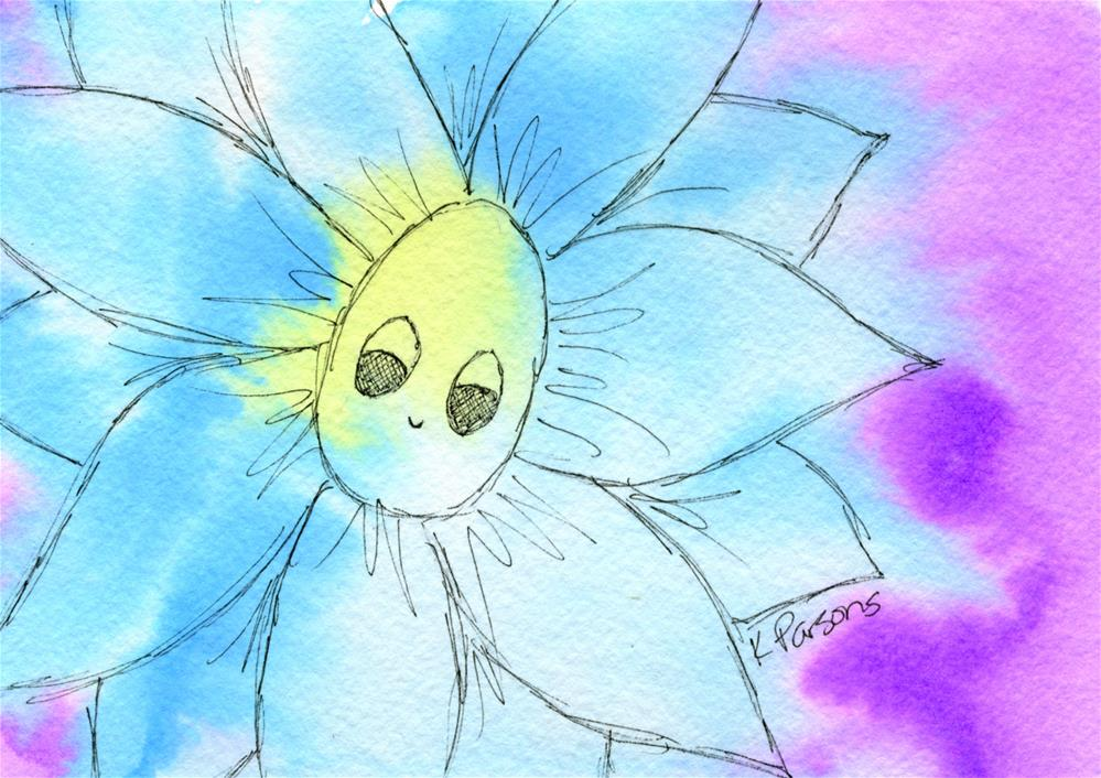 """Looking Flower"" original fine art by Kali Parsons"