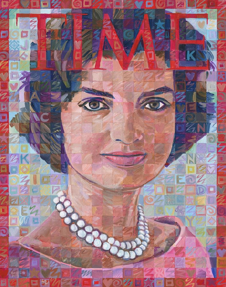 """Jackie Kennedy Time Tribute"" original fine art by Randal Huiskens"