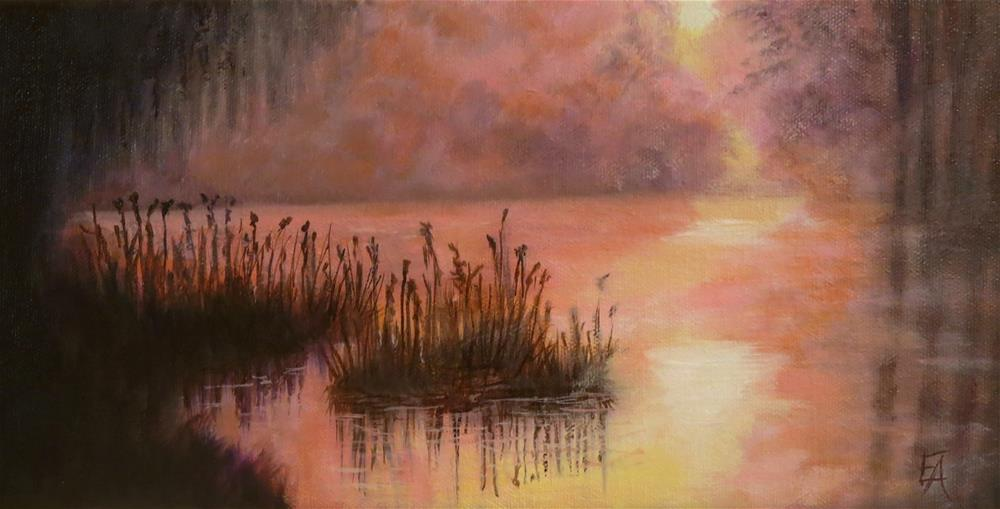 """Golden Mist"" original fine art by Elizabeth Elgin"