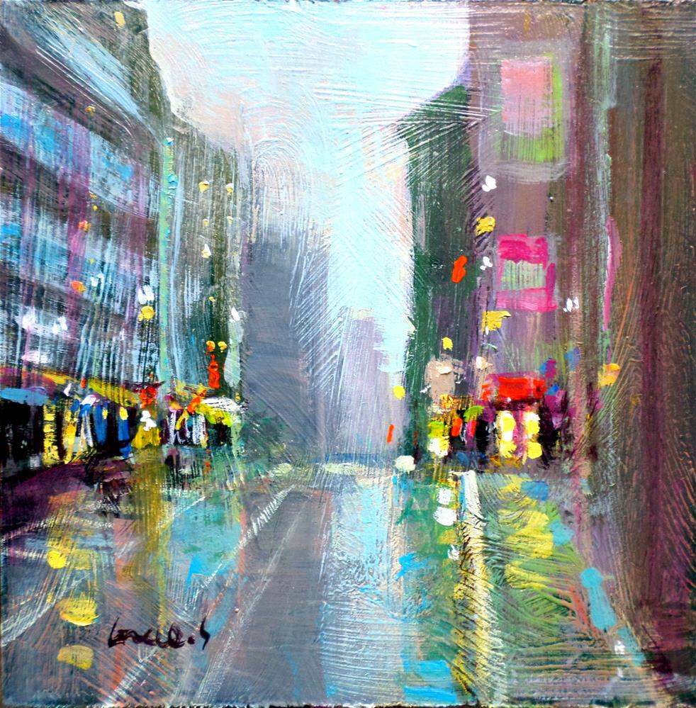 """Mist in New york"" original fine art by salvatore greco"