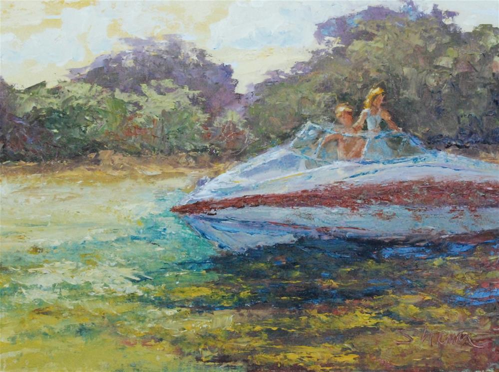 """""""Sunset Ride"""" original fine art by Shawn Deitch"""