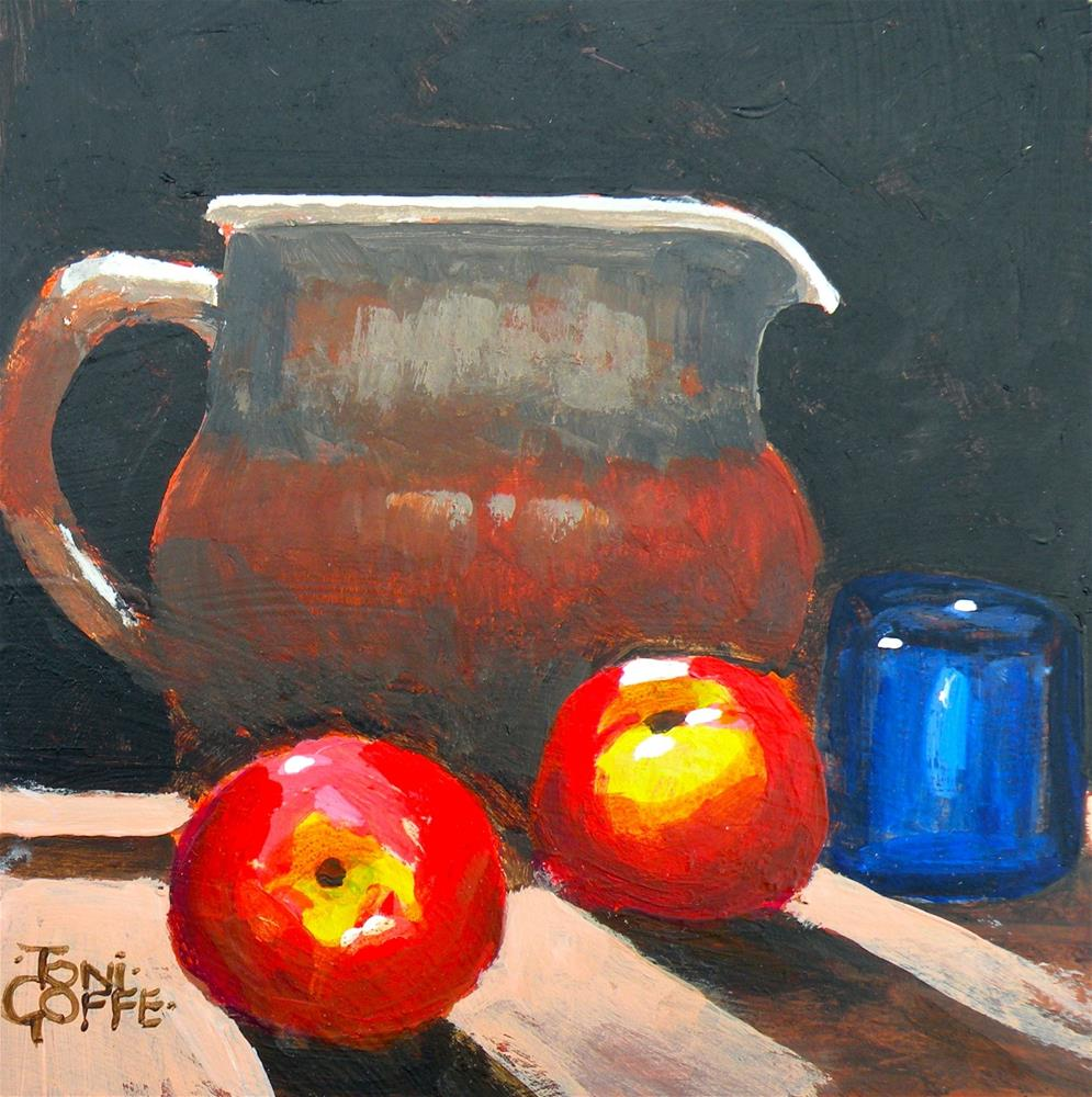 """Jug with Apples"" original fine art by Toni Goffe"
