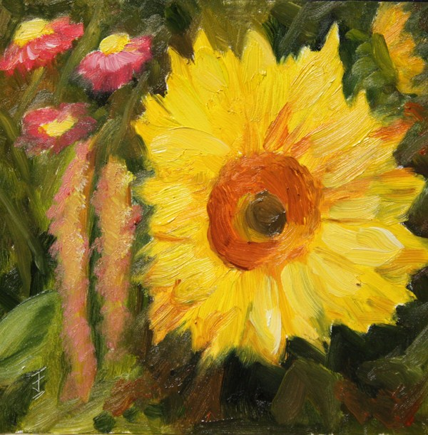 """Bloomin' Sun"" original fine art by Jane Frederick"