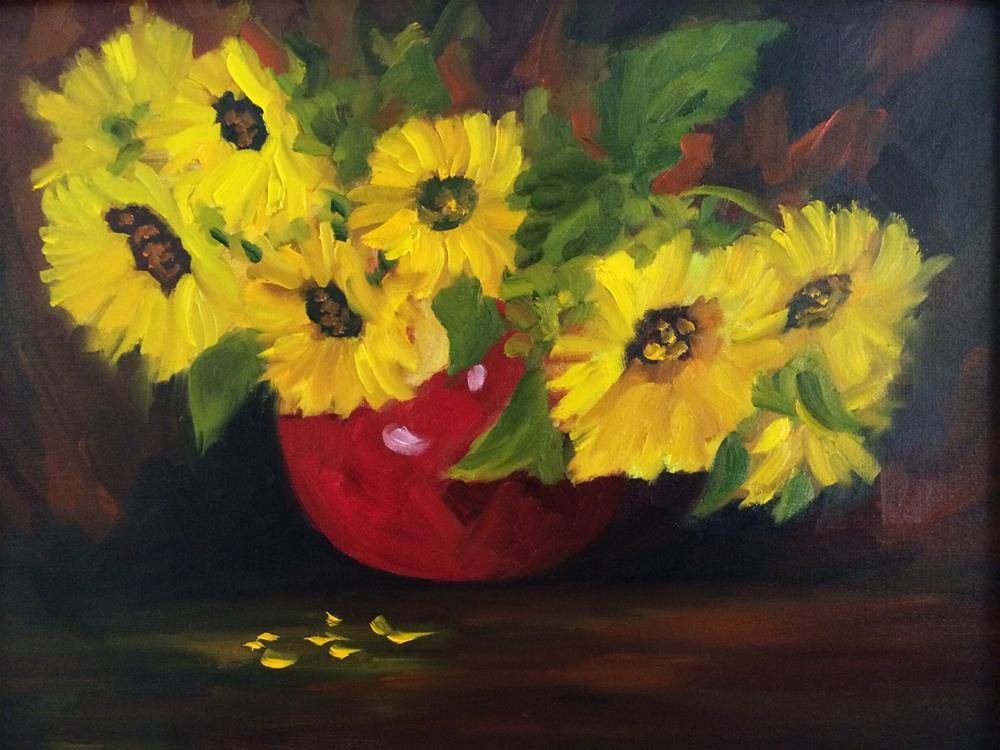 """Sunflowers"" original fine art by Ramya Sarveshwar"