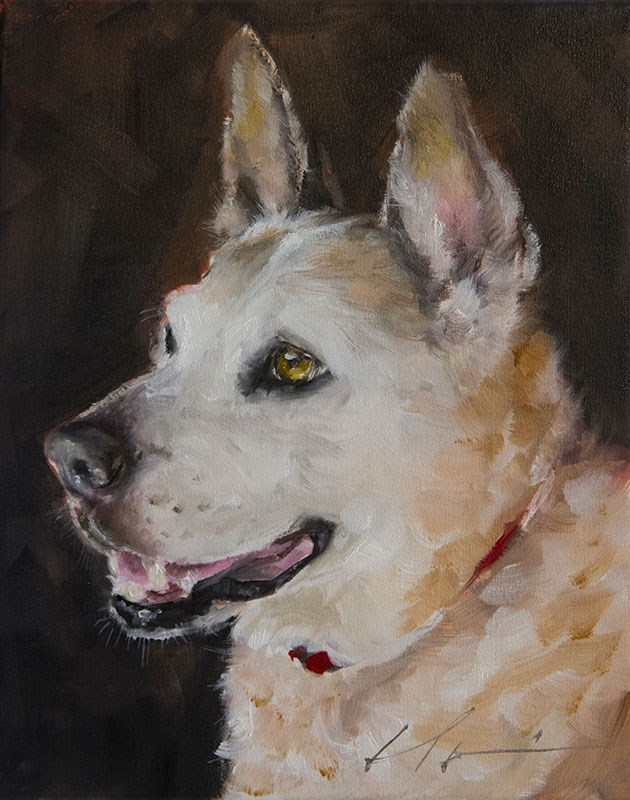 """PAINT MY DOG series #3"" original fine art by Clair Hartmann"