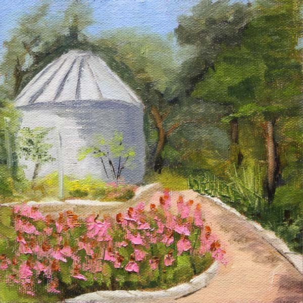 """Wildflower Garden"" original fine art by Jane Frederick"