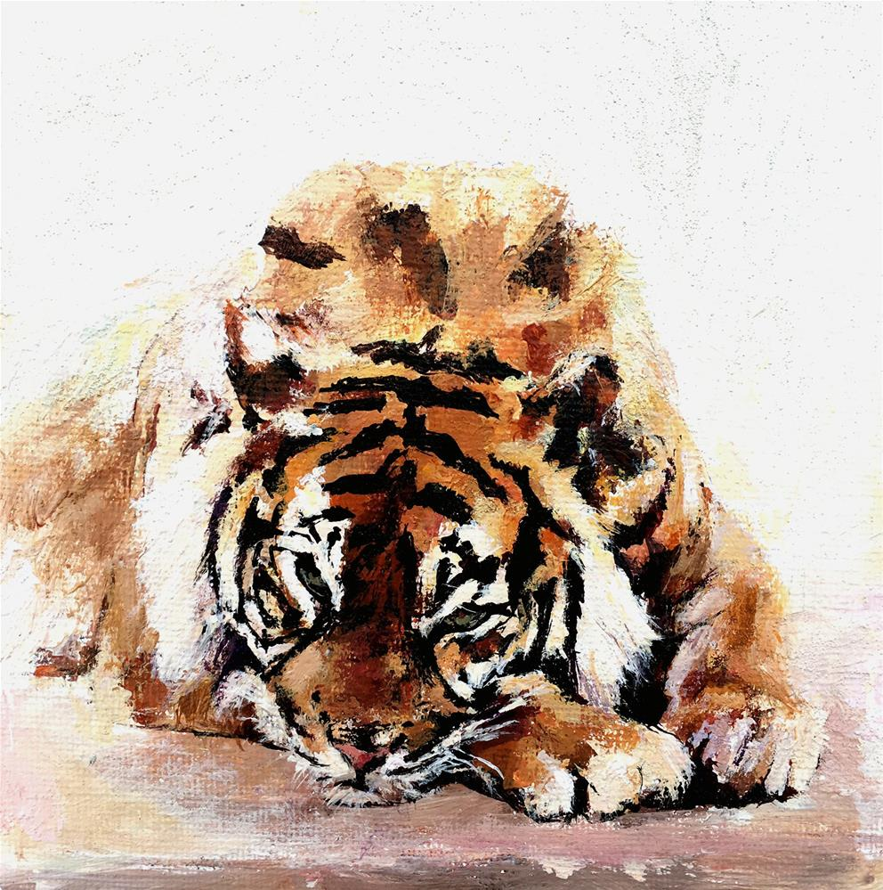 """Tiger"" original fine art by Nava Judith"