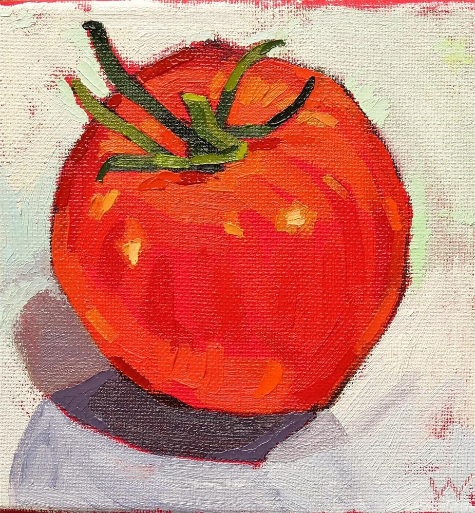 """Tomato Alone"" original fine art by Joan Wiberg"
