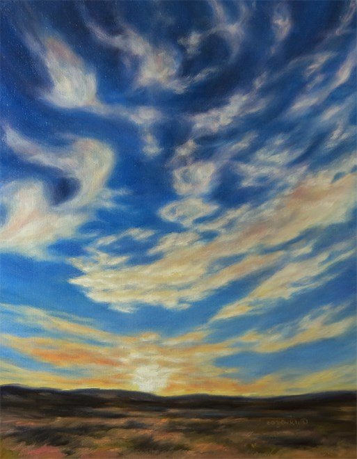 """Grand Farewell"" original fine art by Carol Zirkle"